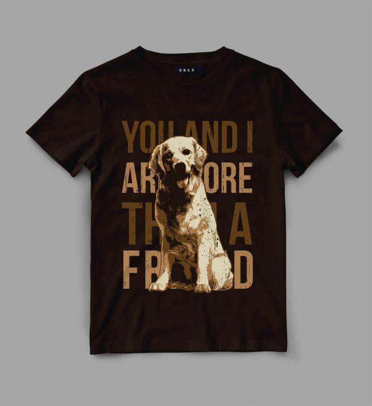 Dog Friend Vector t-shirt design buy t shirt designs artwork