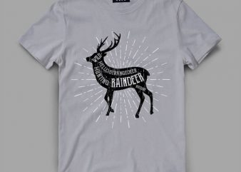 deer 5 raindeer shirt design