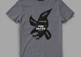 Eagle Predator Graphic tee design