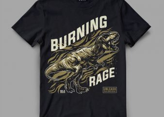 trex rage Vector t-shirt design