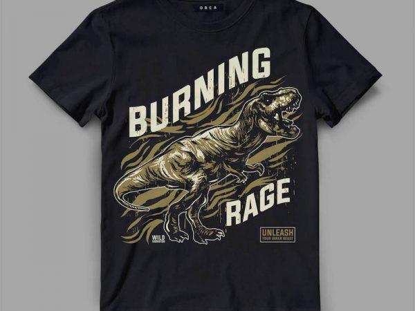 trex rage Vector t-shirt design