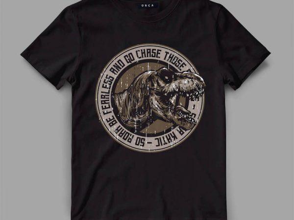trex 3 roar Vector t-shirt design