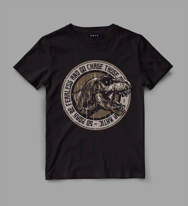 trex 3 roar Vector t-shirt design tshirt designs for merch by amazon