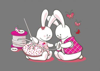 Bunny Love vector t-shirt design for commercial use