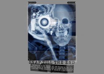 Skull Cam X-Ray t shirt design for sale