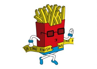 Fast Food vector t-shirt design