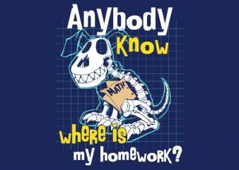 Homework Dog graphic t shirt