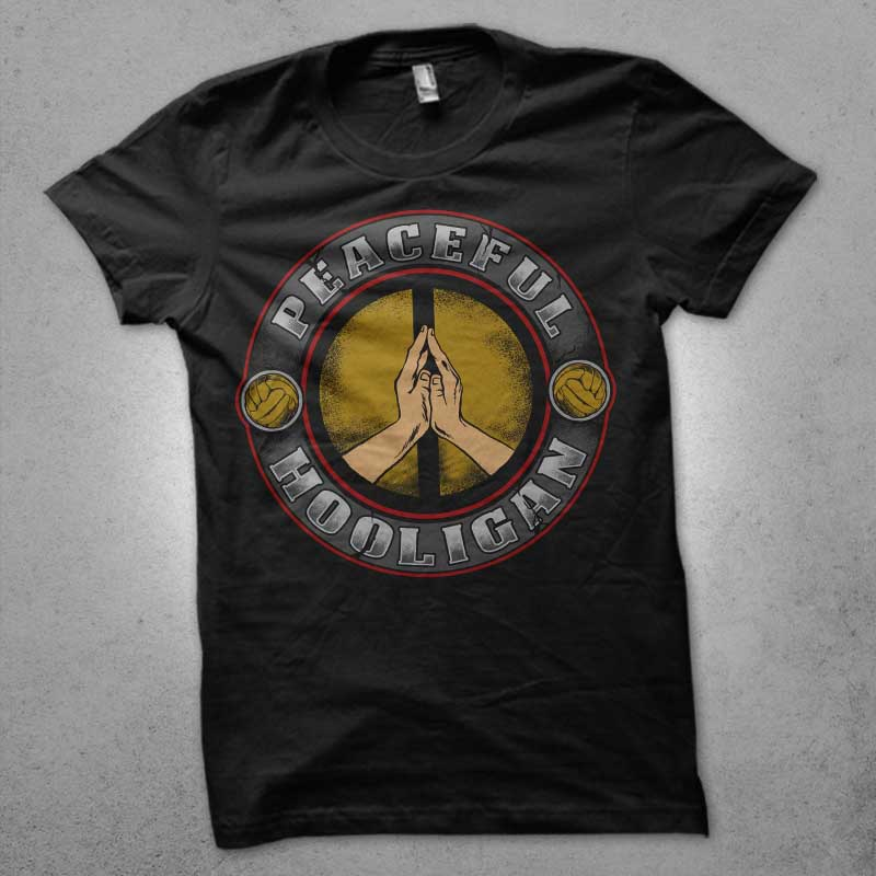 peaceful hooligan t shirt design png