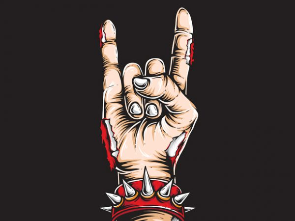 Rock and Roll vector t-shirt design
