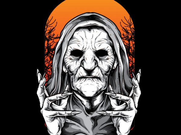 Witch Buy T Shirt Design For Commercial Use