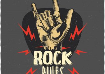 Rock rules. Vector T-Shirt Design