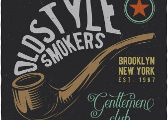 Oldstyle smokers. Vector T-Shirt Design