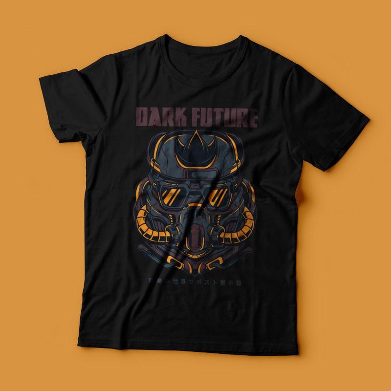Dark Future t-shirt designs for merch by amazon