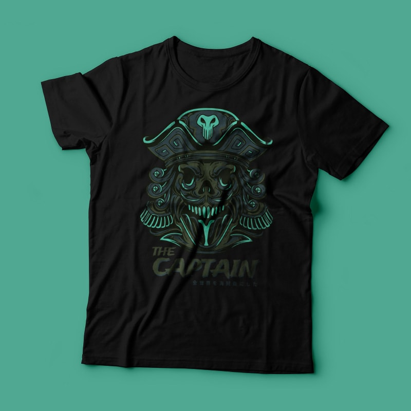 The Captain commercial use t shirt designs