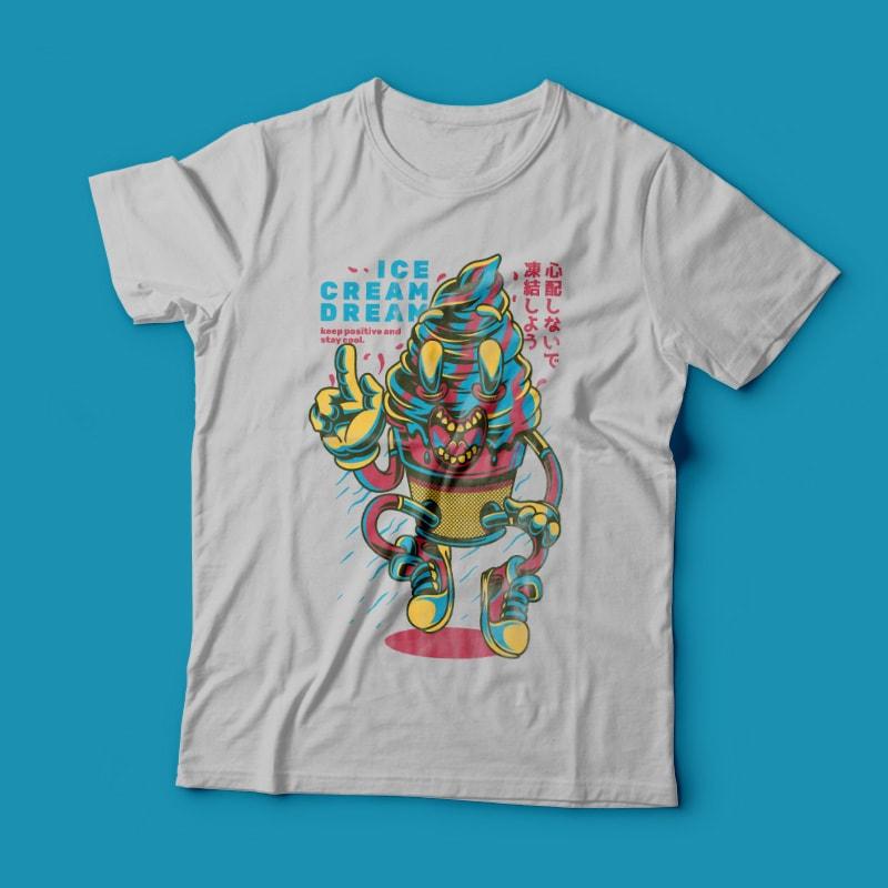 Ice Cream Dream t shirt designs for sale