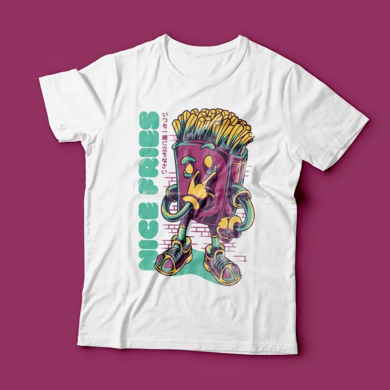 Nice Fries buy t shirt design