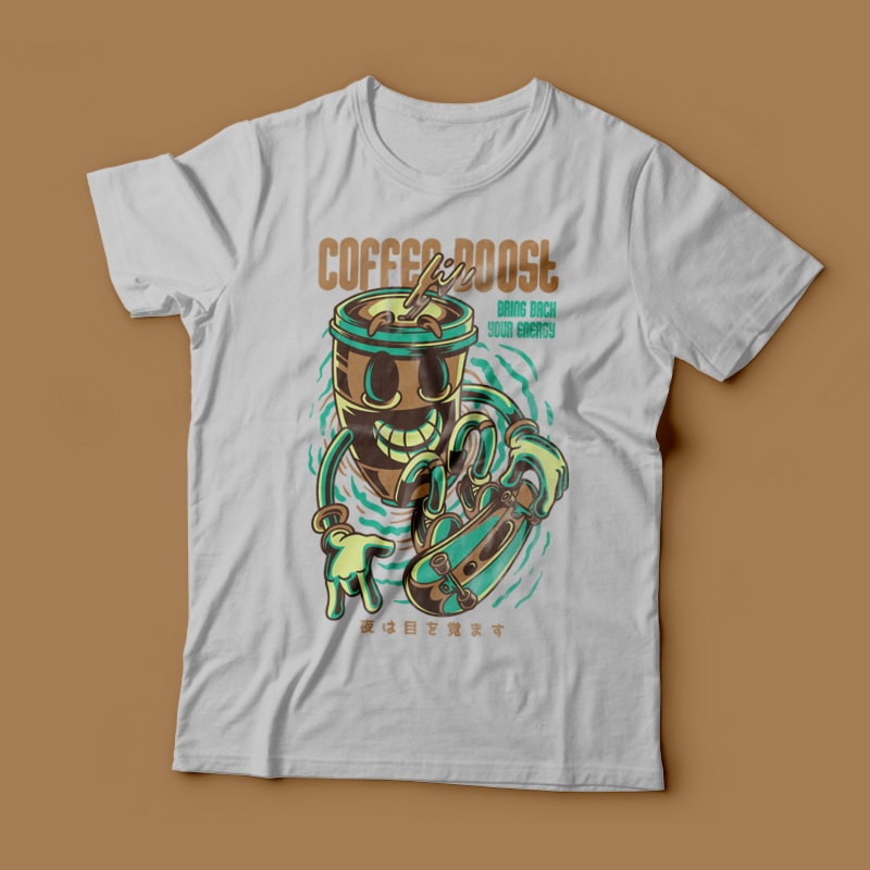 Coffee Boost tshirt factory