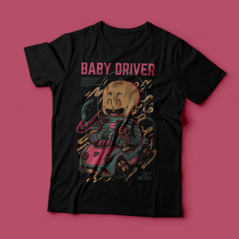 Baby Driver t shirt designs for merch teespring and printful
