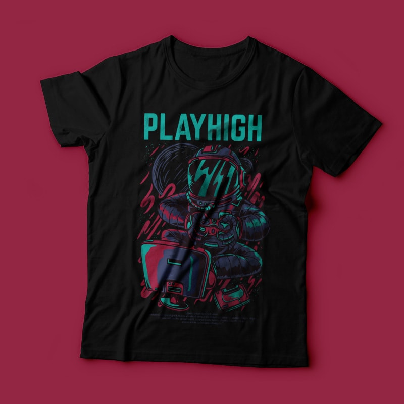 Playhigh t shirt designs for printify
