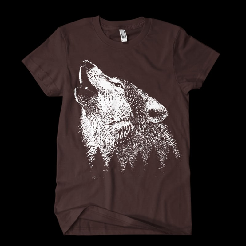 Wolf commercial use t shirt designs
