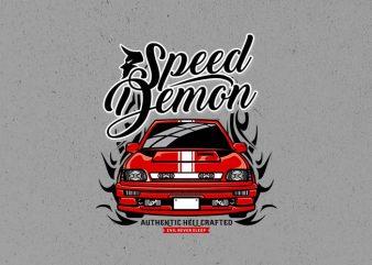 speed demon graphic t-shirt design
