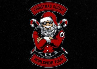 christmas squad t-shirt design for sale