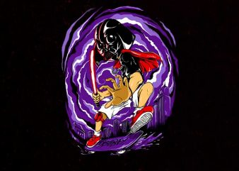 darth skater shirt design png