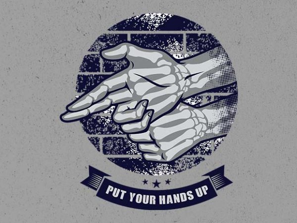 hands up vector t-shirt design for commercial use