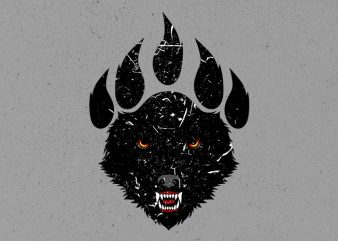 wolf claw t shirt design png