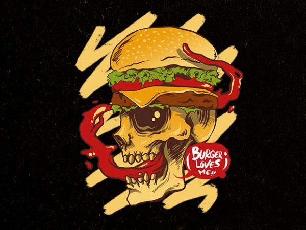 burger loves me t shirt template