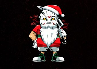 another santa t shirt vector