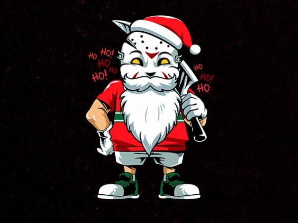 another santa t shirt vector