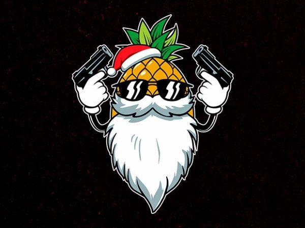 killer santa vector t-shirt design