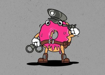 police donut t shirt illustration
