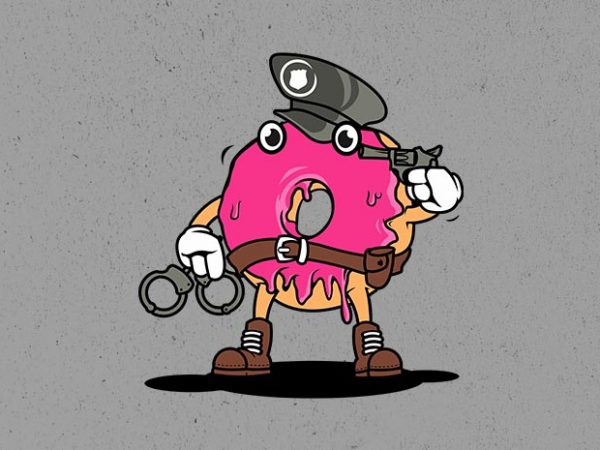 police donut buy t shirt design