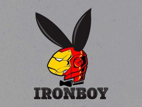 iron boy tshirt design for sale