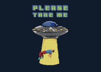 Alien Abduction tshirt design