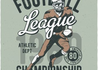 American football. Vector T-Shirt Design