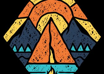 Camp Vibes t shirt vector file