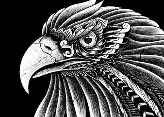 Eagle Ornate t shirt design for purchase