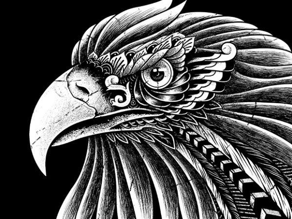 Eagle Ornate t shirt design for purchase