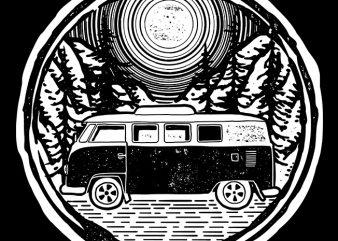 Adventure Van commercial use t-shirt design