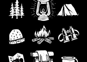 Camp t shirt vector file