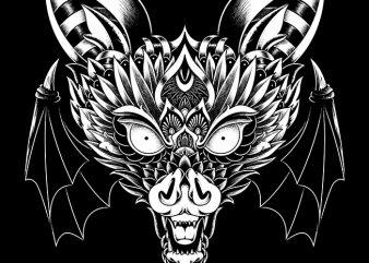 Bat Ornate shirt design png