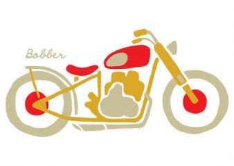 Bobber print ready t shirt design