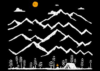 Camp Fire t-shirt design png