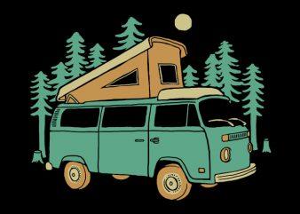 Go Wilderness t shirt design template