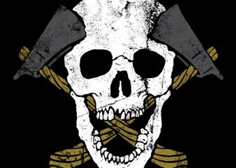 Skull Axe vector t shirt design