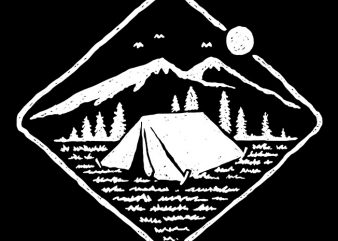 Camp Mode On t shirt vector file