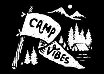 Camp Vibes t shirt design